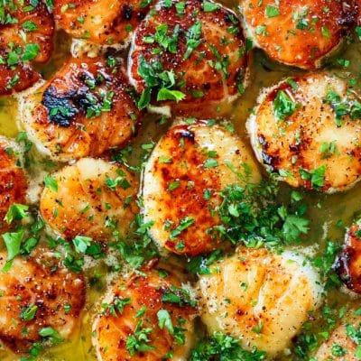 Lemon Garlic Scallops Jo Cooks