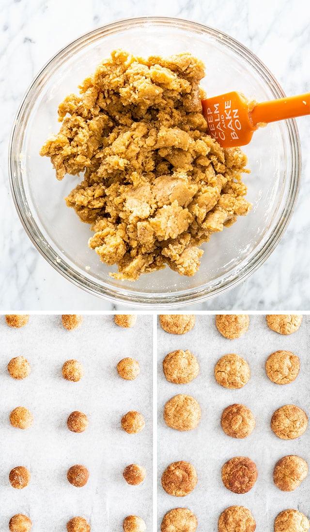Snickerdoodle Cookies process shots