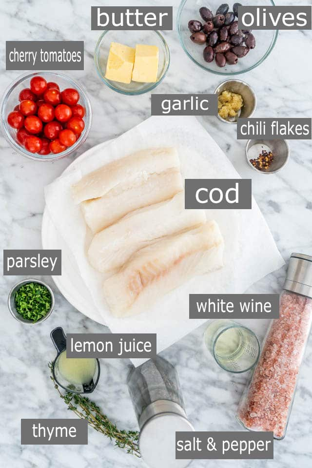 Lemon Butter Baked Cod ingredients
