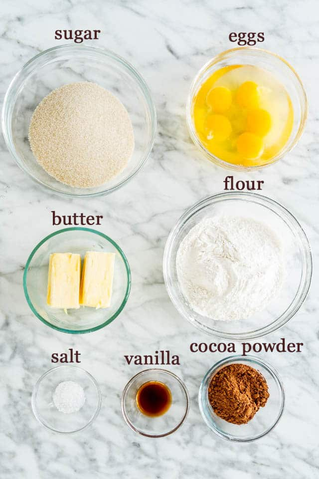 Chocolate Pound Cake ingredients