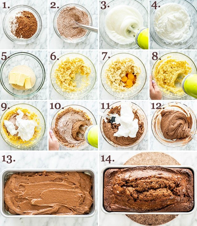 Chocolate Pound Cake process shots