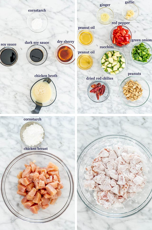 ingredients for kung pao chicken