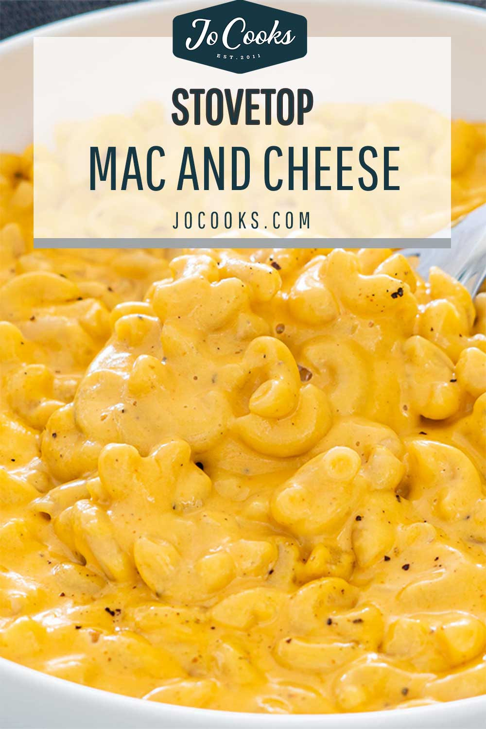 pin for stovetop mac and cheese.