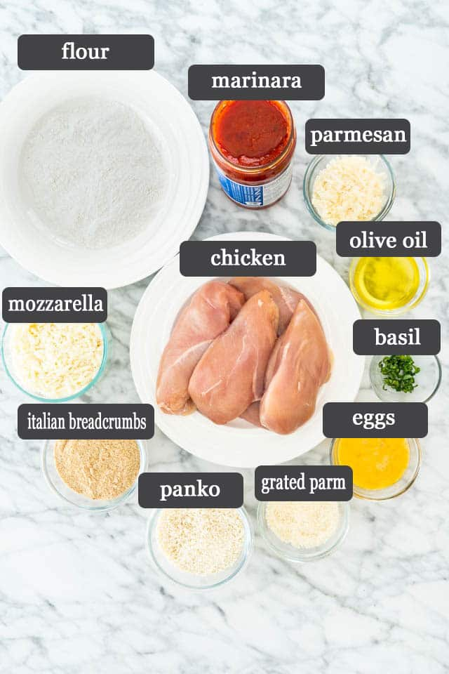 ingredients needed to make Chicken Parmesan