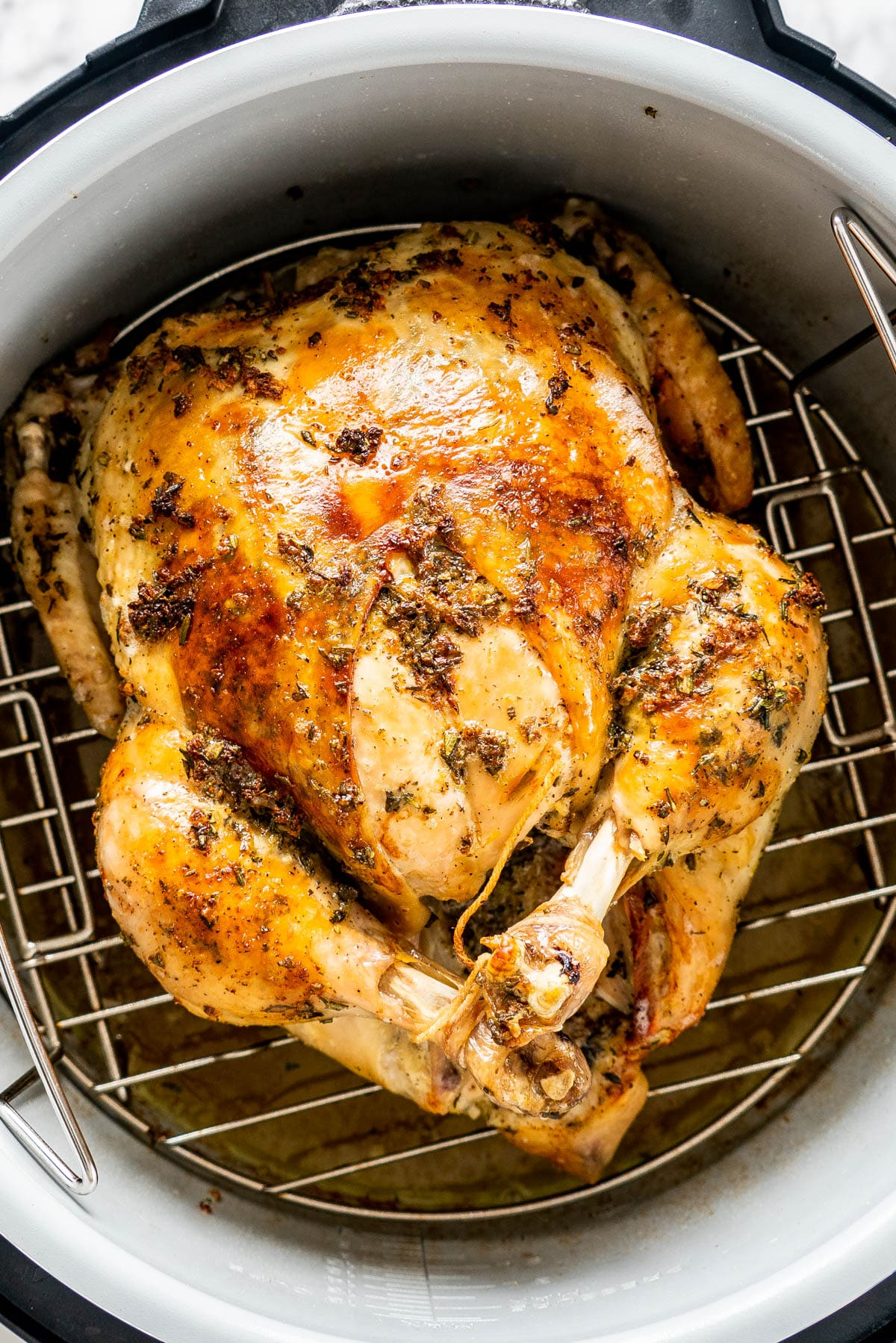 a whole chicken in a pressure cooker