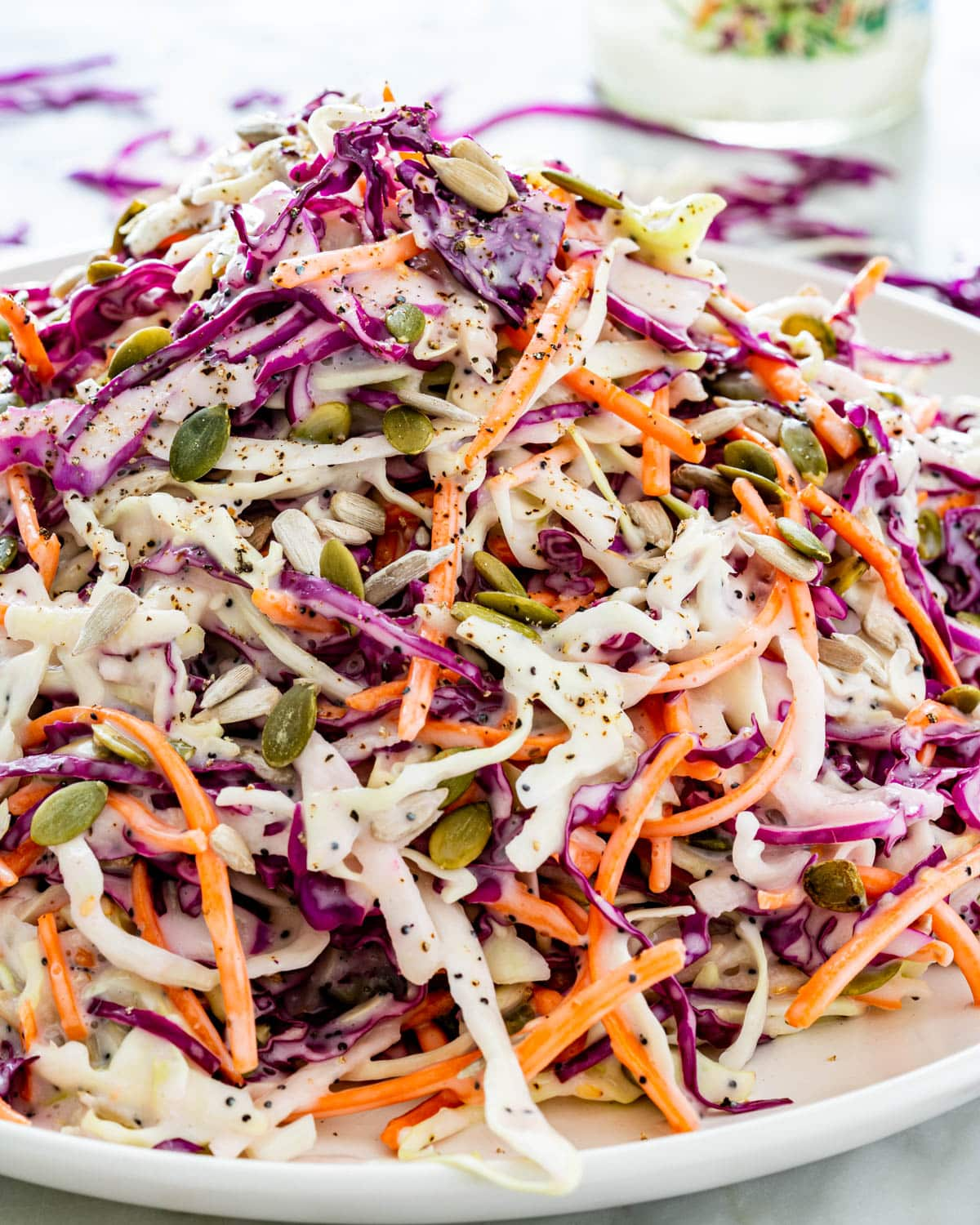 Mixed Cabbage Apple Coleslaw