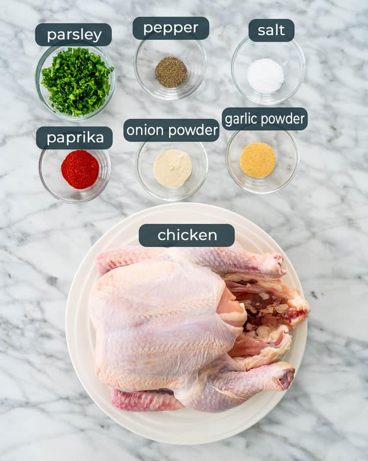 ingredients needed to make a roast chicken