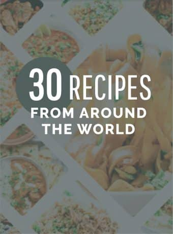 30 recipes from around the world cover.