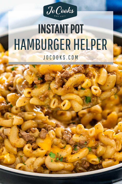 pin for instant pot hamburger helper.