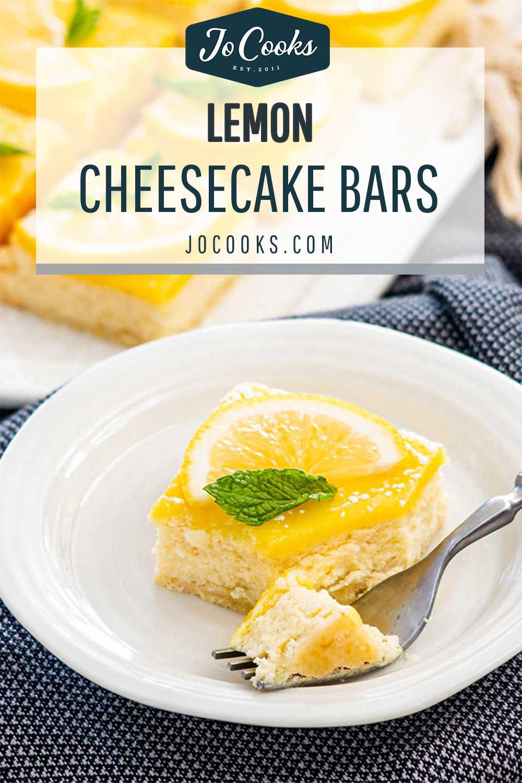pin for lemon cheesecake bars.