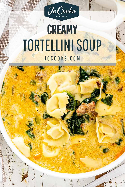 pin for creamy tortellini soup.