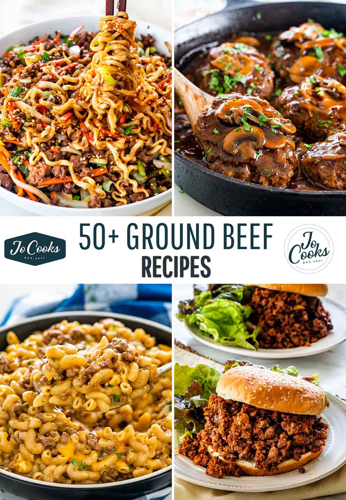 collage for ground beef recipes.